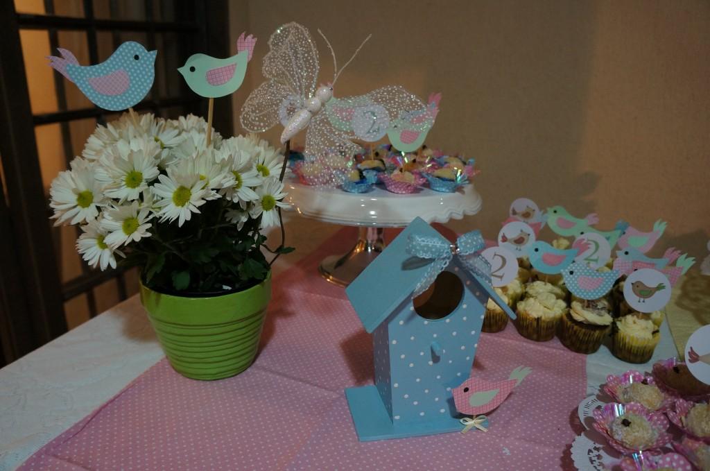 Decoração de Mesa - Festa Infantil Passarinhos