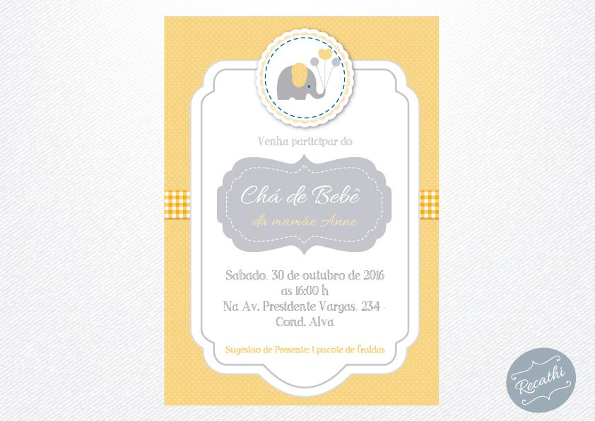 convite-cha-de-bebe-elefante-cinza-elo7